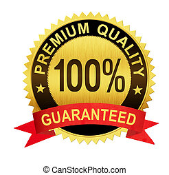 premium quality guaranteed gold seal medal with red ribbon...