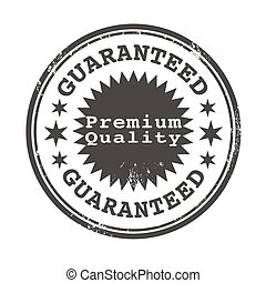 premium quality guaranteed stamp