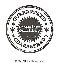 premium quality guaranteed stamp