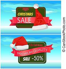 Premium Quality Half Price Christmas Sale Posters - Premium...