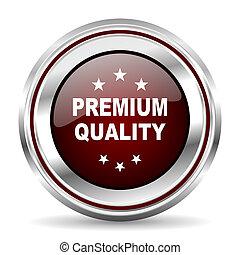premium quality icon chrome border round web button silver metallic pushbutton