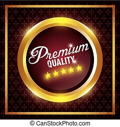 Premium quality label design.