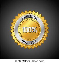 Premium Quality Label. Retro vintage design. Vector...