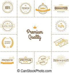 Premium quality labels set - Vector illustration of Premium...