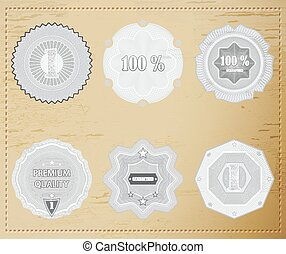 Premium Quality Labels with retro design .