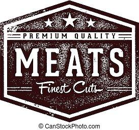 Premium Quality Meats Butcher Sign