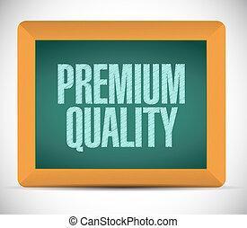 Premium quality message chalkboard illustration