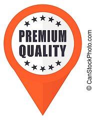 Premium quality orange pointer vector icon in eps 10 isolated on white background.
