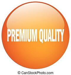 premium quality orange round gel isolated push button