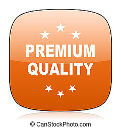 premium quality orange square web design glossy icon