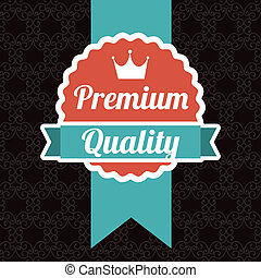 premium quality over black background. vector illustration