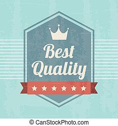 premium quality over blue background. vector illustration
