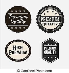 premium quality over gray background. vector illustration