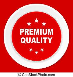 premium quality red flat design modern web icon