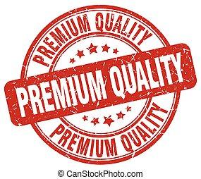 premium quality red grunge round vintage rubber stamp