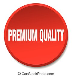 premium quality red round flat isolated push button