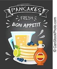 Premium quality restaurant breakfasts vintage style advertisement illustration