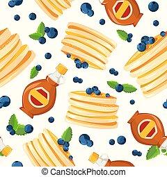 Premium quality restaurant breakfasts vintage style advertisement seamless pattern