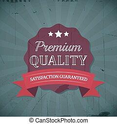 Premium quality retro vintage label