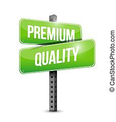 Premium quality road sign illustration design