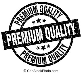 premium quality round grunge black stamp