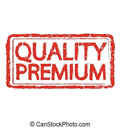 Premium quality rubber stamp text illustration