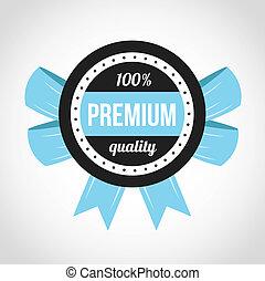 Premium Quality Vector Badge Blue