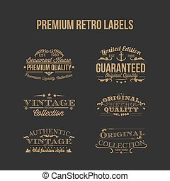 Premium Retro Labels