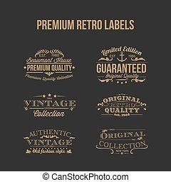 Premium Retro Labels