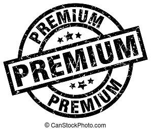 premium round grunge black stamp