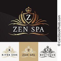 Premium Royal Crest Logo Design. Suitable for Spa, beauty...