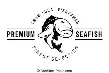 Premium sea fish : fish badge collection