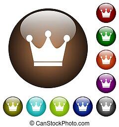 Premium services color glass buttons