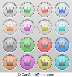 Premium services plastic sunk buttons