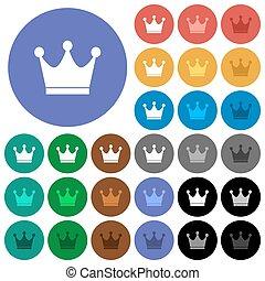 Premium services round flat multi colored icons