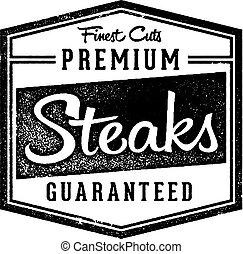 Premium Steaks Steakhouse Menu Stamp