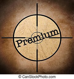 Premium target