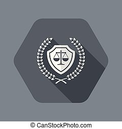 Premium top legal protection - Flat and isolated vector ...