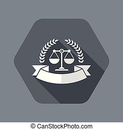 Premium top legal services - Flat and isolated vector ...