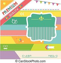 premium vintage badges and labels