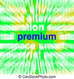 Premium Word Cloud Showing Best Bonus Premiums