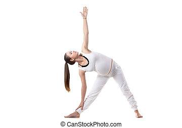 Prenatal Yoga, Trikonasana pose