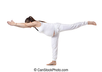Prenatal Yoga, Warrior III pose