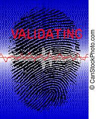 prend empreintes digitales dispositif balayage, biometric