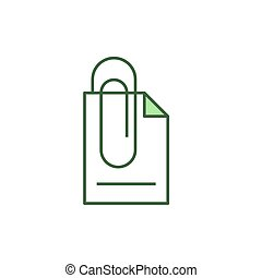prender, documento, ícone