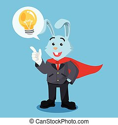 prendere, coniglio, eroe, idea, affari
