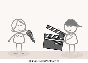 prendere, video, riprese