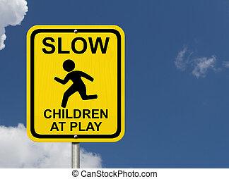 prendre garde, enfants, présent