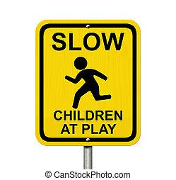 prendre garde, présent, enfants