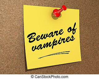 prendre garde, vampires